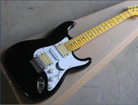 vintage black guitar - Hot Sale Black Electric Guitar with Vintage Maple Fretboard and White Pickgaurd and Can be Changed as Request