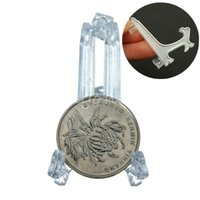 Wholesale 2015 New Top quality Mini Clear Plastice Coin Easels Coin Display Stand Display Plate Holders