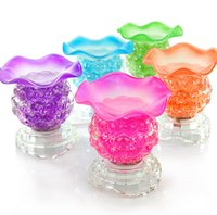 home fragrance oil - For gift and home decoration Colors Electric Glass Essential Oil Diffuser Tart Burner Fragrance Oil Lamp air purification