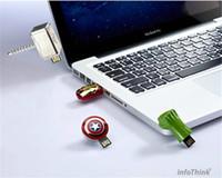 Wholesale 30 real capacity AVENGERS GB GB GB GB GB USB Flash Drive pen drive thumb drive Captain America Shield memory stick