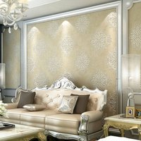 Wholesale European Style d Damascus wallpaper Non woven Sitting Room Bedroom TV Setting Wallpaper
