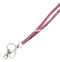 Wholesale 300pcs Bling Lanyard Crystal Rhinestone in neck with claw clasp ID Badge Holder for Mobile phone