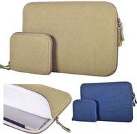 Wholesale Blue canvas Notebook laptop Sleeve Bag Case Pouch messenger bag Cover For quot quot quot inch quot inch Apple MacBook Air Pro