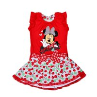 minnie mouse clothing - 2015 Baby Girl Summer Cute Dress Outfit Minnie Mouse Clothing for Toddler Infant Set Short Sleeve T Shirt Tutu Skirt Cartoon Suit