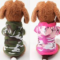 100% cotton shirt fabric - Fabric for dog clothes Fashion top camouflage color dog two feets winter pet coat
