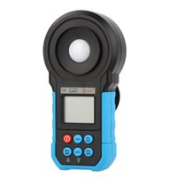 Wholesale BSIDE ELM02 Auto Range Digital LCD Lux FC Meter Light Illuminance Meter Lux Tester illuminator Measuring Illuminometer E0079