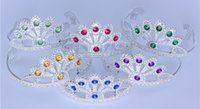 Wholesale Rhinestones crown tiaras with combs kids silver plastic tiara headbands girls tiara headband girl party tiaras dress up tiaras