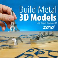 aircraft miniature - Zorn Store ZOYO D building Aircraft Car Ship Ferris whee models Puzzles DIY nano metal miniature three dimensional sculpture Jigsaw