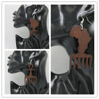 africa designs - 5pairs Newest Africa Ankh Wood Earrings can be mixed designs