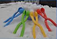 Wholesale 72pcs Winter Sports Toy Snowball Maker clips Kids Snow Scoop Maker For Christmas Gift