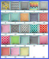 Wholesale 23 pattern Cotton Linen Square Decorative Pillowcase cm Throw Pillow Chevron Flower Cushion Cover Cushion Cover