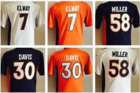 authentic terrell davis jersey - Factory Outlet Boys New Youth John Elway Von Miller Terrell Davis Blue White Kids Football Jerseys Authentic Boy Embroidery L