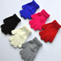 Wholesale Hot Selling Baby Boy Girls Gloves Warm Winter Children Mittens Students Full Finger Knitting Gloves Christmas Gifts VT0140 Kevinstyle