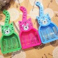 Wholesale 2015 new For Cats Pet Products Large Litter Scoop Cat Food Dog Food Shovel Accessories For Dogs Color Random Delivery