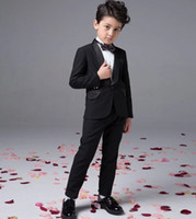 baby boy summer wedding outfit - Fashion baby boy kids blazers suits prom party formal white clothing wedding casual spring summer costume flower children outfit