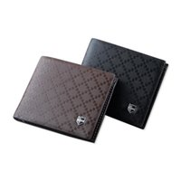 leather supplies wholesale - The New Supply Spot Men S Leather Brand Purse Fashion Plaid Wallet Business And Leisure Travelers Wallets