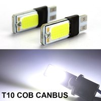 Wholesale New T10 W5W Withe COB Free Decoding Car CANBUS LED Lights