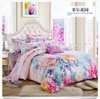 bedsheets for sale - 2015 Hot Sale Home Luxury Cotton Bedding Set Bedclothes Bed Linen Sets For Queen king Size Quilt duvet Cover Bedsheets