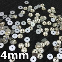 Wholesale 1440pcs mm Round Shape Crystal Color XILION Lochrose ss16 Sew On rhinestone with One Hole for wedding dress shoes