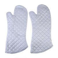 Wholesale New Kitchen Heat Resistant Cotton Glove Microwave Oven Pot Holder Baking BBQ Cooking High Quality PTSP