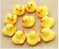 beach items - Hot sale Baby Bath Water Toy toys Sounds Yellow Rubber Ducks Kids Bath Children Swiming Beach toys Gifts CHR