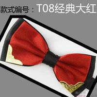 Wholesale Solid Color Bowtie Adjustable Adult Butterfly Tuxedo Polyester Bow Tie For Men Colors To Choose