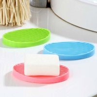 soap holder - Simple And Fashional Silicone Soap Dishes Drain And Bathroom Soap Holder Soap Box Fashion lovely Soap Shelf