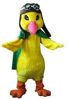aviator custom - Aviator Duck Mascot Character Costume Fancy Party Halloween Christams Birthday Dress Outfit Costume