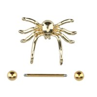 Wholesale New Arrival Fashion Gold Spider Style Body Jewelry Nipple Shield Piercing Barbell Ring Nipple Ring W2106