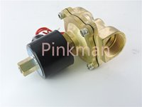Wholesale 1pc W250 k way2position V DC quot Electric Solenoid Valve Water Air Normal Open