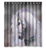 artistic shower curtains - Personalized Design Artistic white horse unique Shower Curtain Measure x x72 x72 Inches