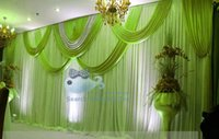 apple swag - White And Apple Green Color ft ft Nice Looking White Wedding Backdrop Curtain With Swag Drape