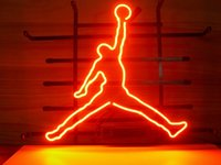 Wholesale BASKETBALL MICHAEL NB REAL GLASS TUBE NEON BULBS LIGHT BEER BAR WALL SIGN GAMEROOM CLUB GARAGE
