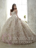 Wholesale 2016 Royal Luxury Organza Long Quinceanera Dresses Lovely Girls Sweetheart Ball Gown Lace up Vestidos de Anos