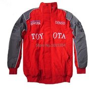 Wholesale Men s Cotton Jacket toyota Coat Embroidery Racing Clothes for Auto Advertising jacket Casual Coat