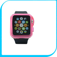 Wholesale Colors TPU Half Transparent Case For Apple Watch mm mm Bumps Scratch Proof Protective Cover