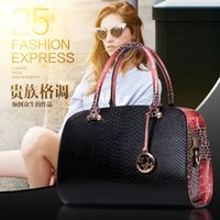 authentic tote bags - new European and American serpentine fashion handbags shoulder bag authentic Boston lady messenger bags