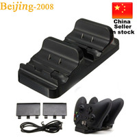 Wholesale Hot sale Dual Charging Dock For Xbox One Wireless Controller With Battery Pack USB Cable Free DHL