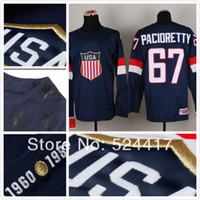 olympic hockey jerseys - stitched Olympic Team USA Max Pacioretty Jersey Sochi Winter olympic Ice Hockey Jersey Blue white