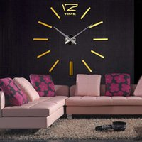 Wholesale DIY Home Decoration Large Watch Wall Clock Modern Design Creative Scale Decor Stickers Set Mirror Effect Acrylic Glass Decal order lt no tra