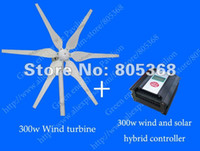 Wholesale 300W V wind turbine w v wind solar hybrid controller preferential For house W wind solar hybrid monitoring