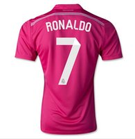 pink jersey - DHL freeshipping Top Thailand Quality Madrid Away Pink Soccer Jersey Ronaldo James Soccer Jersey Tops Mixed Order Accepted