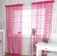 Wholesale Line curtains curtains rose decorative line creative home romantic heart shaped wire blinds