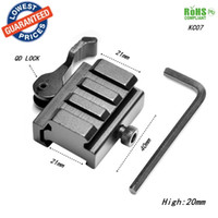Wholesale AloneFire KC07 Metal QD MM mm Quick Release Mount Adapter for Bipod Mount Hunting