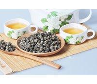 al por mayor perlas de té de jazmín orgánica-[Premium] Nuevo Orgánico 5A jazmín Pearl Flower Tea té de jazmín té de salud té verde 125g, envío gratis