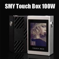 Bon Marché Écran capacitif-Écran tactile d'origine SMY Box 100W TC Mod capacitif Smart Touch batterie Li 2600mAh Fasion E Cigarettes