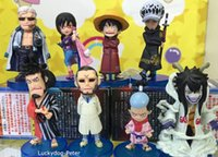 Wholesale One Piece Edition Punk Hazard Action Figure Law Luffy M Caesar Clown Doll PVC ACGN figure Toys Brinquedos Anime CM