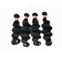 Hot Sale 6A da Malásia Virgem Cabelo onda profunda 4pcs / Lot 100% Human Hair Extension Preto Natural Color 8