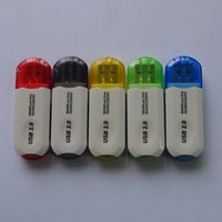 Wholesale 20pcs USB ALL IN Multi slot card reader sim card reader micro sd adapter for momery card