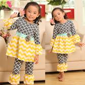 free shipping clothes - Hot Selling Set Cotton Clover Infant Toddler Baby Girls Ruffles Outfits Sets Baby Clothes Sets Top Pants Sets